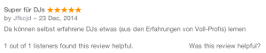 DJKanzel iTunes Rezension
